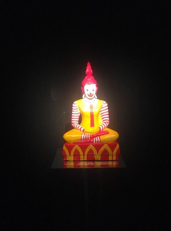 McDonalds Buddha Art