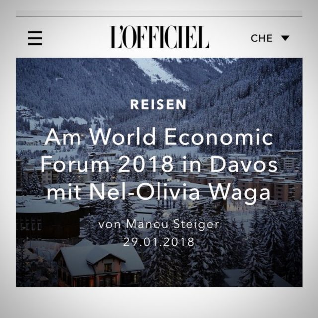 An Interview about my time at the worldeconomicforum in Davoshellip