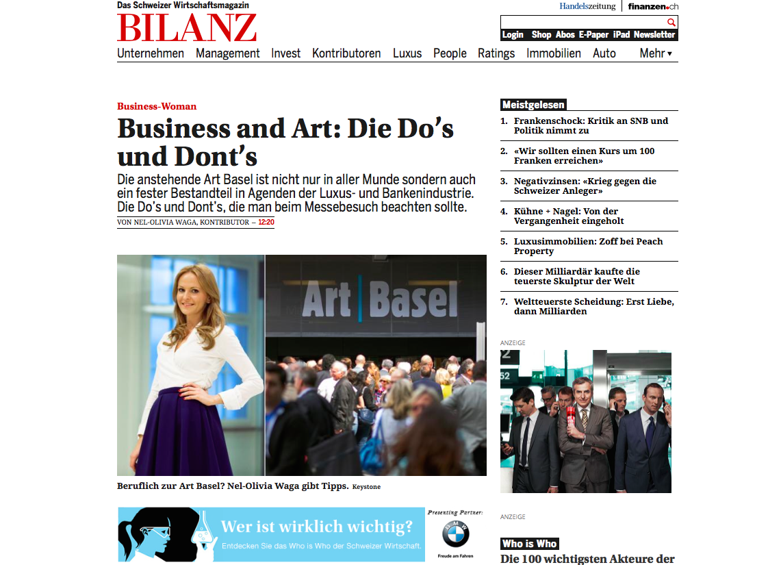 Nel-Olivia Waga Art Basel Bilanz Kunst