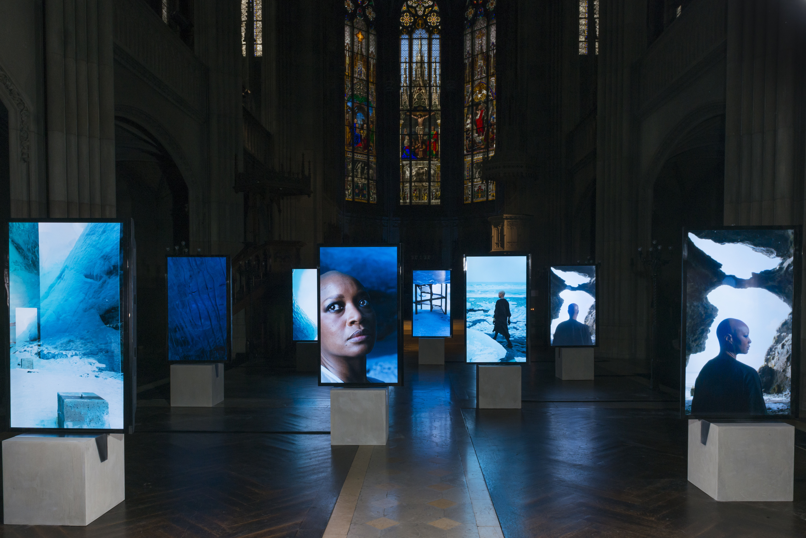 "Isaac Julien presents new work ""Stones Against Diamonds"" as part of the Rolls-Royce Art Programme during Art Basel on June 16, 2015 in Basel, Switzerland."