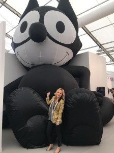 Angela Lei attends die Preview of Frieze London