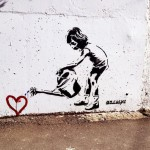 Banksy Watering Heart