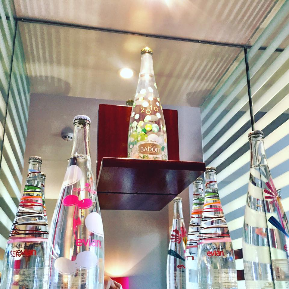 Evian limited edition bottles