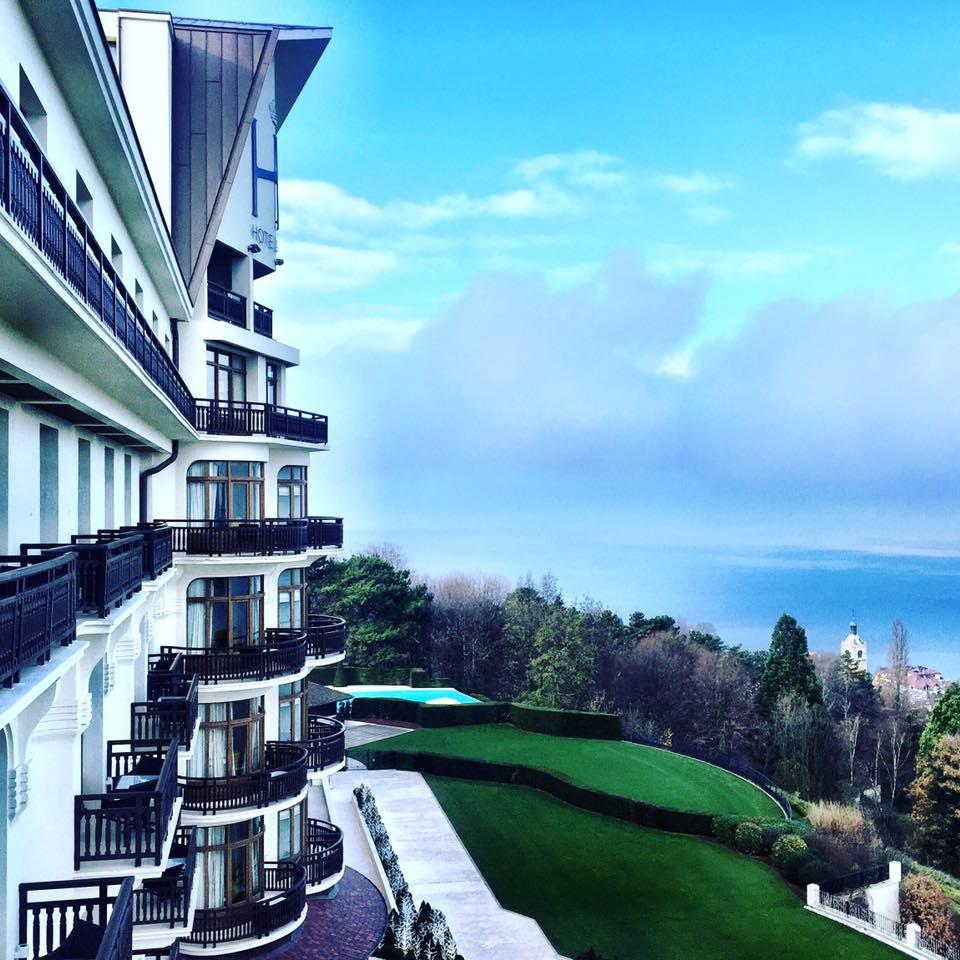 Room with a view Lake Geneva Evian Resort Hotel Royal