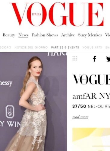 AMFAR GALA NEW YORK 2017, FEBRUARY 2017, VOGUE ITALIA