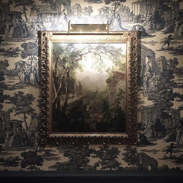 When the wallpaper has its own story to tell DinnerWithAViewhellip