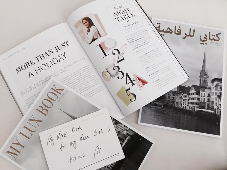 IN THE PRESS: #MyLuxList at Park Hyatt Zurich's new Magazine #MyLuxBook