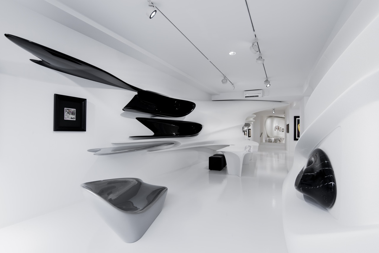 "FORBES: Zaha Hadid's Design for ""Kurt Schwitters: MERZ"" at Galerie Gmurzynska in Zurich"
