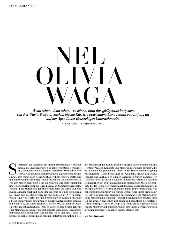 Nel-Olivia Waga LOfficiel