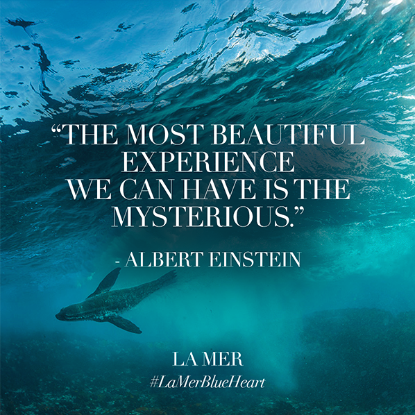 La Mer Blue Heart Quote Einstein