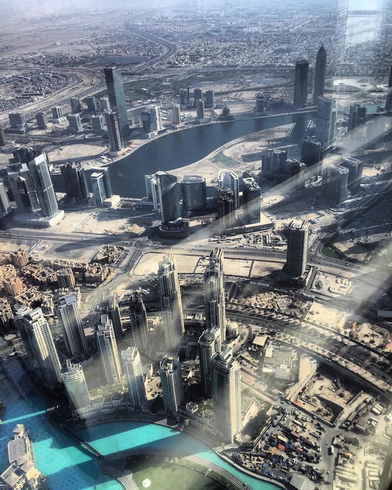 Top of Burj Khalifa Dubai View