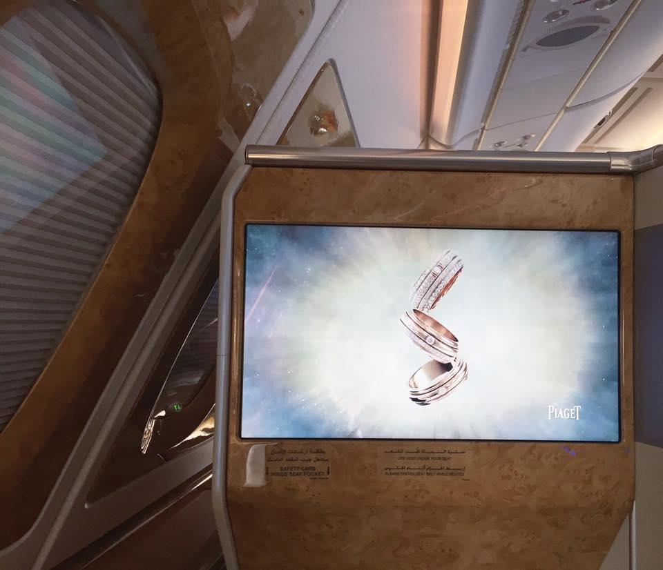 Emirates A380 Business Class Piaget