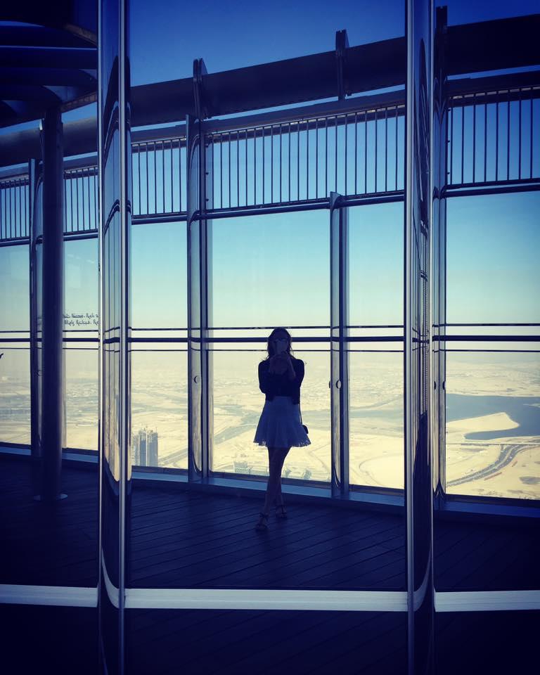 Top of Burj Khalifa Dubai Nel-Olivia Waga
