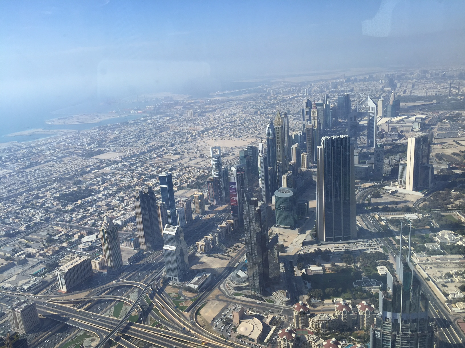 View on top of Burj Khalifa Dubai
