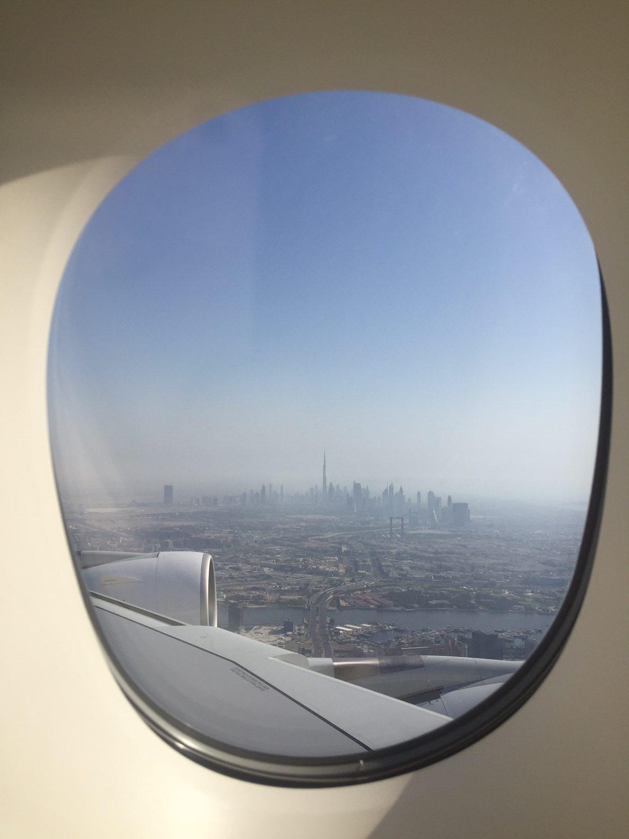 Emirates A380 Dubai View
