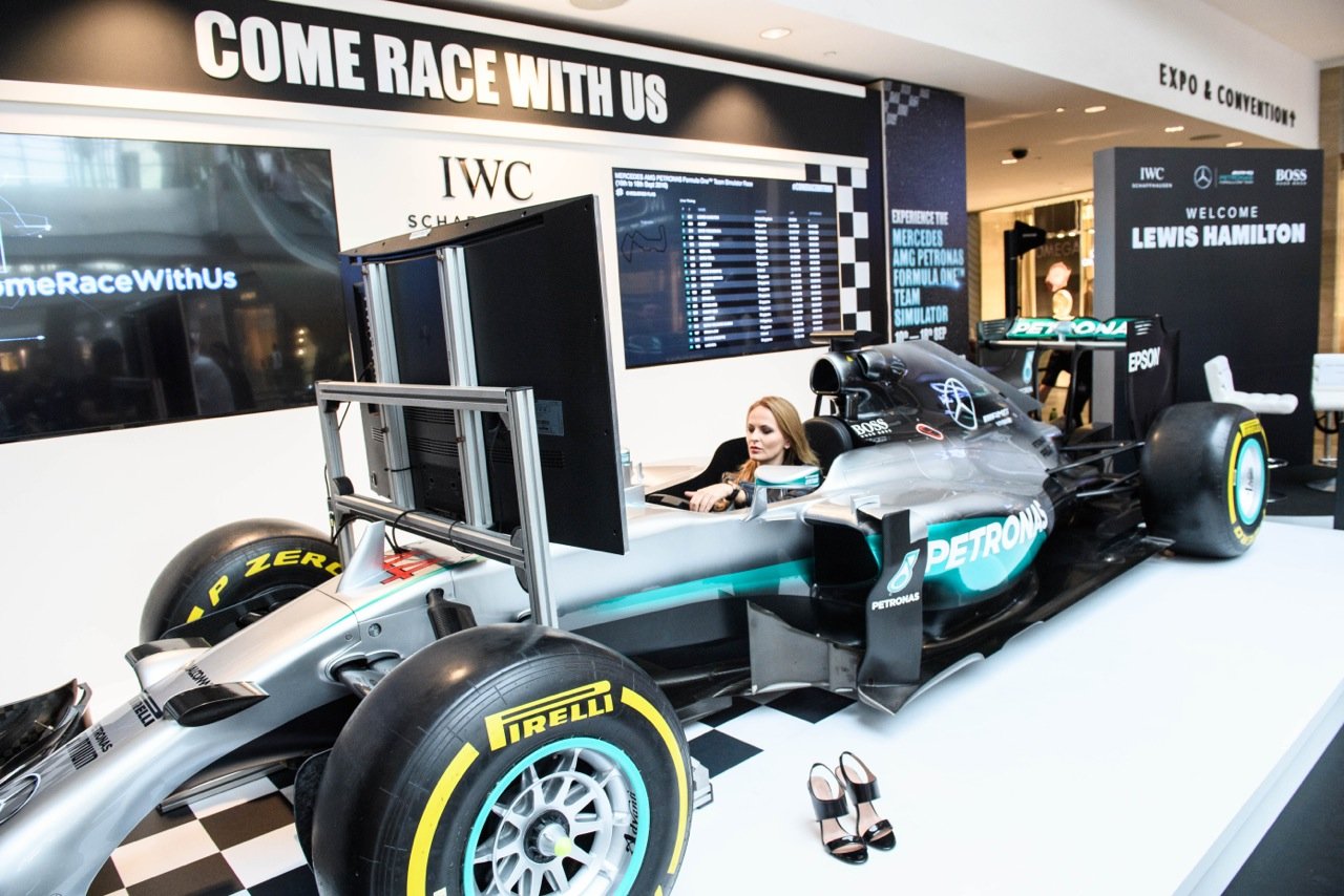 F1 GRAND PRIX EXCITEMENT with Lewis Hamilton and Nico Rosberg for IWC x MERCEDES AMG x HUGO BOSS