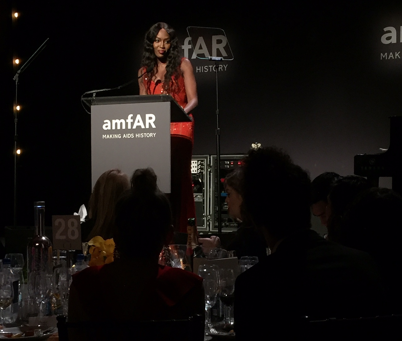 Naomi Campbell honours Donatella Versace at amfAR New york Gala 2017