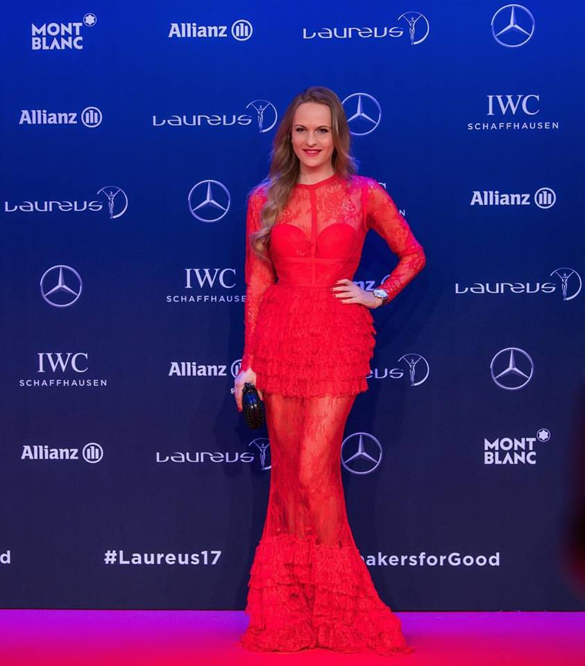 MONTE CARLO, MONACO - FEBRUARY 14: Nel-Olivia Waga attends the 2017 Laureus World Sports Awards at the Salle des Etoiles, Sporting Monte Carlo on February 14, 2017 in Monaco, Monaco. The most outstanding athletes of the past year were honoured at the Laureus World Sports Awards 2017. (Photo by Lukas Schulze/IWC Schaffhausen via Getty Images )