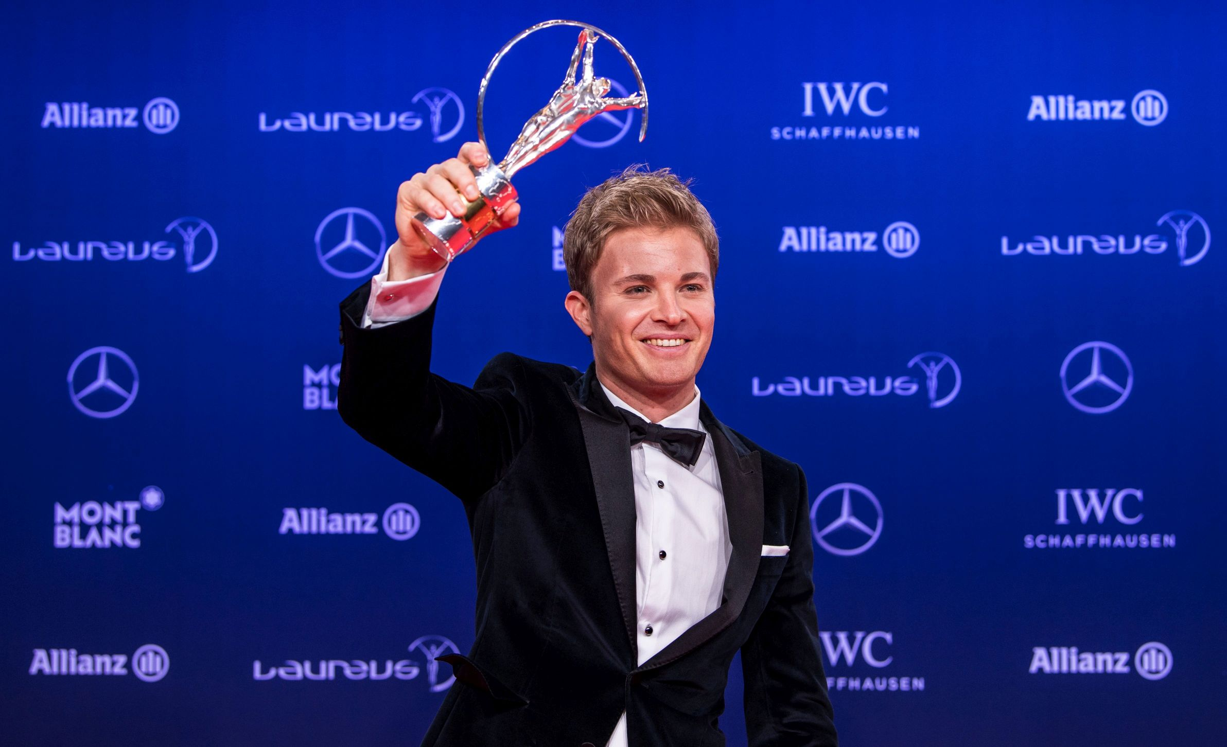 MONTE CARLO, MONACO - FEBRUARY 14: Nico Rosberg, Formular One World Champion, attends the 2017 Laureus World Sports Awards at the Salle des Etoiles, Sporting Monte Carlo on February 14, 2017 in Monaco, Monaco. The most outstanding athletes of the past year were honoured at the Laureus World Sports Awards 2017. (Photo by Lukas Schulze/IWC Schaffhausen via Getty Images )