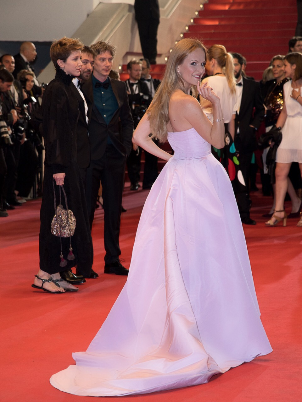 Nel-Olivia Waga attends the Premiere of La Redoute during Cannes Film Festival. Red Carpet/Montee des Marches. Photo Credit: PPress Photography