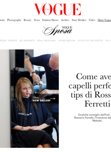 Nel-Olivia Waga at Rossano Ferretti Hairspa Monaco featured in VOGUE Italia & VOGUE Sposa
