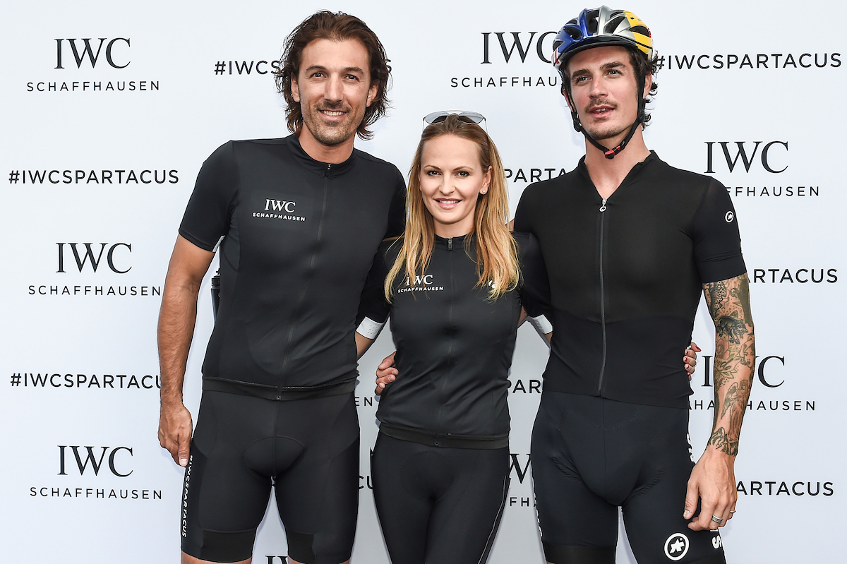 BERN, SWITZERLAND - JUNE 28: Fabian Cancellara, Nel-Olivia Waga, Patrick Seabase at the IWC Schaffhausen Fabian Cancellara Spartacus Challenge on June 28, 2017 in Bern, Switzerland.  (Photo by The Image Gate for IWC)
