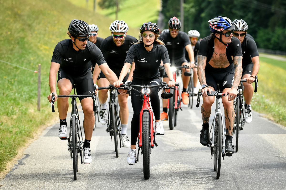 BERN, SWITZERLAND - JUNE 28:  Fabian Cancellara, Nel-Olivia Waga, Patrick Seabase during the IWC Schaffhausen Fabian Cancellara Spartacus Challenge on June 28, 2017 in Bern, Switzerland.  (Photo by The Image Gate for IWC)