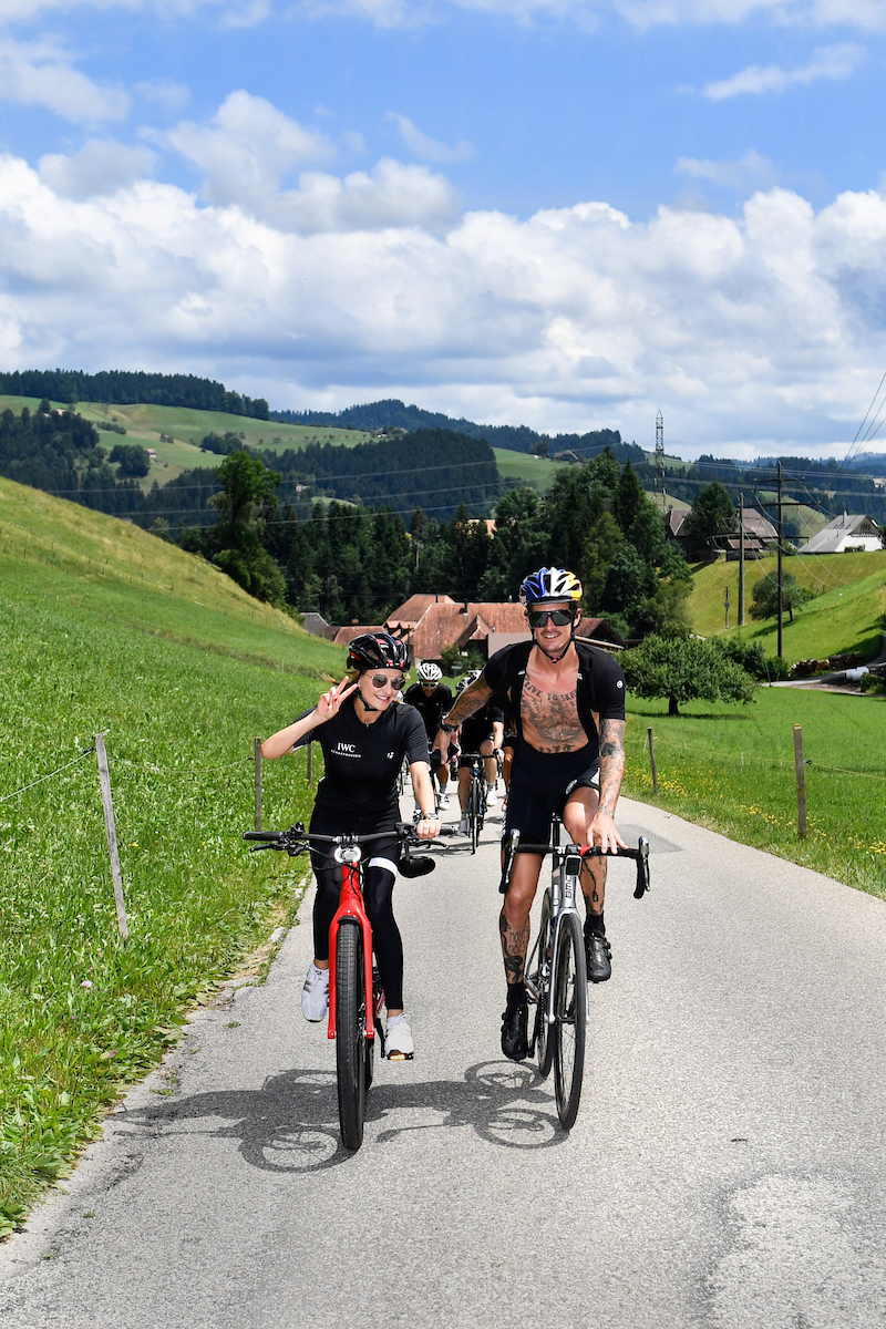 BERN, SWITZERLAND - JUNE 28:  Nel-Olivia Waga, Patrick Seabase at the IWC Schaffhausen Fabian Cancellara Spartacus Challenge on June 28, 2017 in Bern, Switzerland.  (Photo by The Image Gate for IWC)