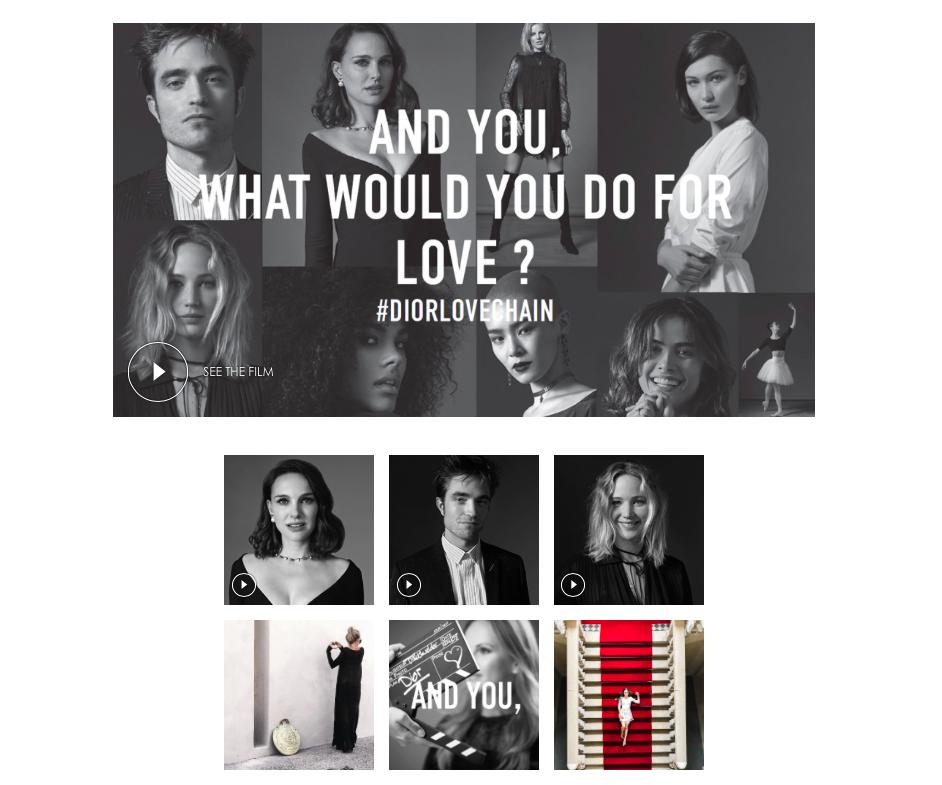 Nel-Olivia Waga Bella Hadid Natalie Portman Dior Love Chain