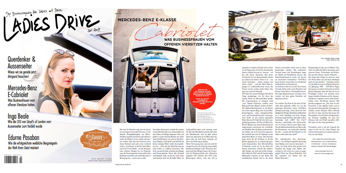 IN THE PRESS: Mercedes Benz x Ladies Drive Coverstory