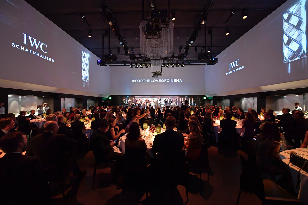 ZURICH, SWITZERLAND - SEPTEMBER 30:  A general view at the IWC 'For the Love of Cinema' Gala Dinner at AURA Zurich on 30 September, 2017 in Zurich, Switzerland. During the event, actor James Marsden presented the third 'Filmmaker Award', a sponsorship worth CHF 100,000. The award was set up by the Association for the Promotion of Film in Switzerland ('Verein zur Filmförderung in der Schweiz').  (Photo by Harold Cunningham/Getty Images for IWC)