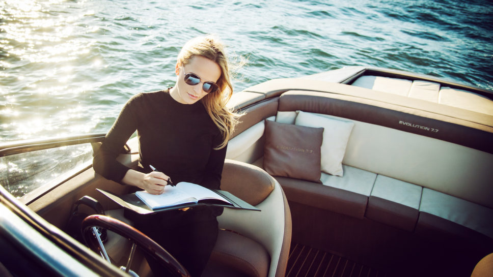 Nel-Olivia Waga for Montblanc with Ganz Boats
