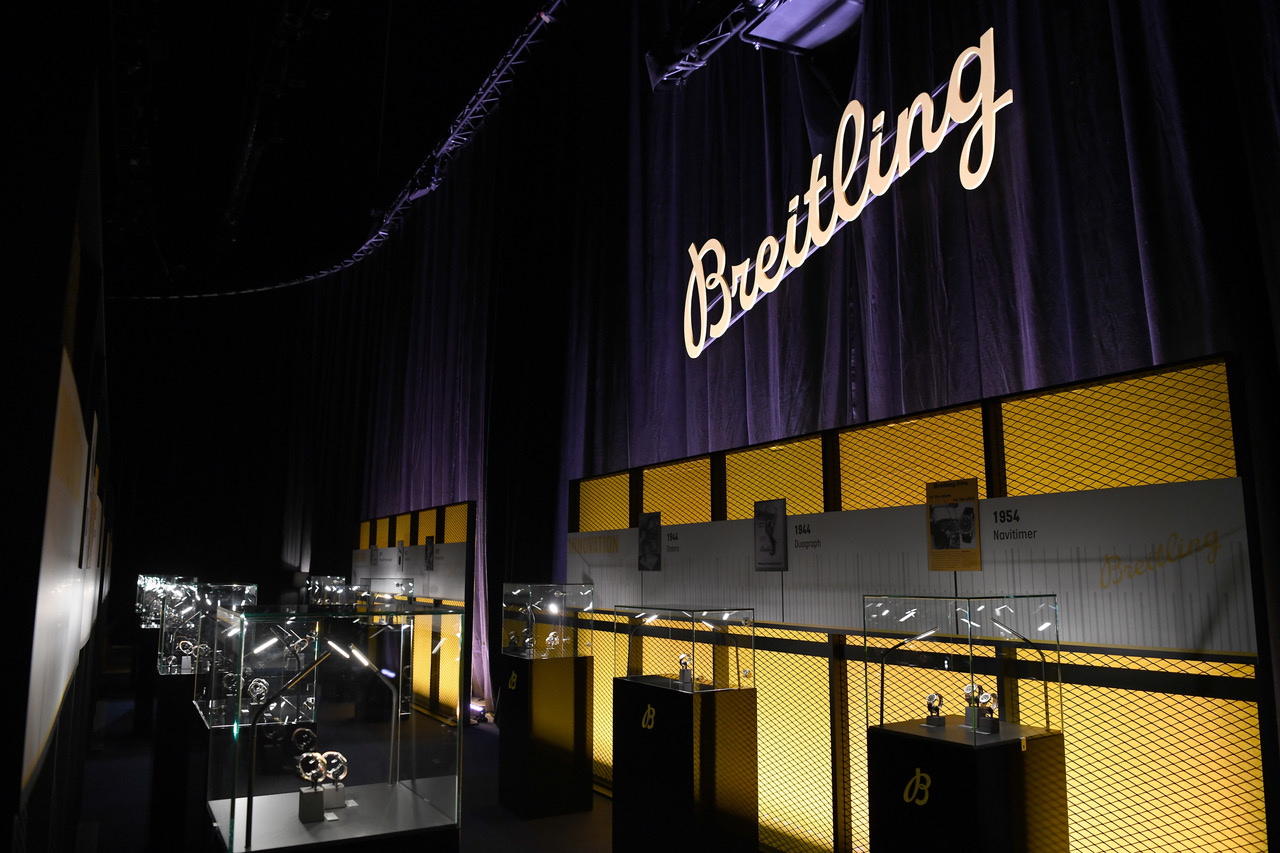 ZURICH, SWITZERLAND - FEBRUARY 15:  General atmosphere at the exhibition at the '#LEGENDARYFUTURE' Roadshow 2018 Zurich on February 15, 2018 in Zurich, Switzerland. (PPR/Photo by Alexander Scheuber/Getty Images for Breitling)