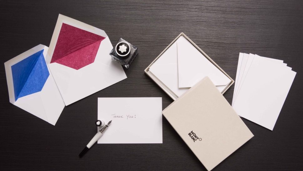 Montblanc Thank You Writing Cards