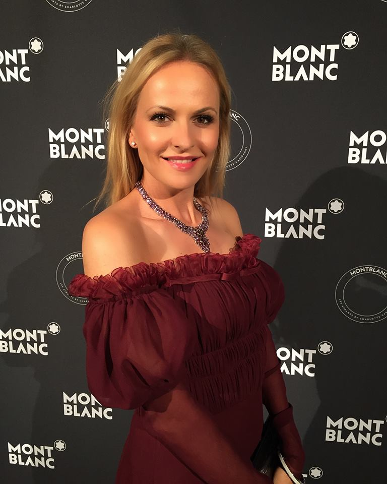 Nel-Olivia Waga attends Montblanc Les Aimants in Cannes hosted by Charlotte Casiraghi.