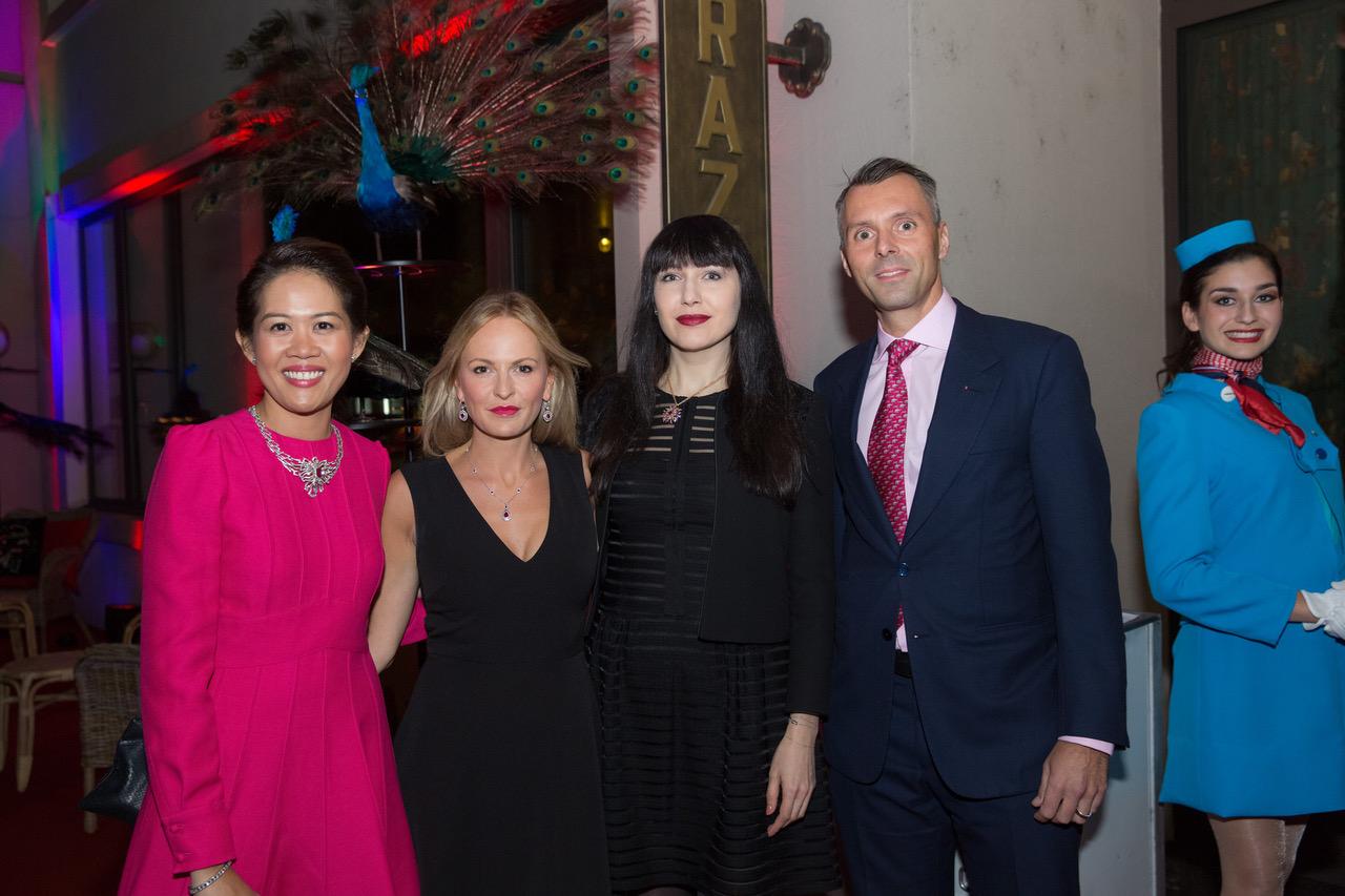 Wilvy Sy Gübelin, Nel-Olivia Waga, jewellery expert Katerina Perez and Raphael Gübelin