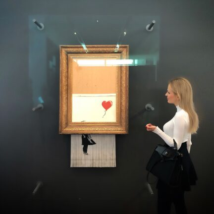 Nel-Olivia Waga and Banksy's Love is in the Bin, Frieder Burda Museum, Baden-Baden