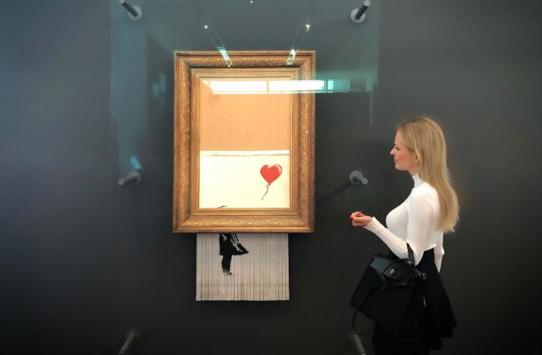 Nel-Olivia Waga and Banksy's Love is in the Bin, Frieder Burda Museum, Baden-Baden